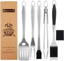 ROMANTICIST 6pc Heavy Duty Grill Accessories for Top Chef - Professional Grill Tools Set & Basic BBQ Tools for Backyard Restaurant Outdoor Kitchen - Deluxe Grill Gift for Dad on Father's Day Birthday