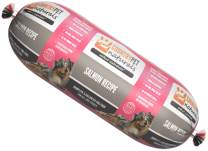 Native Essentials Dog Food (Salmon Recipe, 1 Roll - 1.5 lbs) - Natural Ingredients with Added Vitamins & Minerals - Shelf Stable Food, Topper or Training Reward - Made in The USA