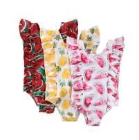 TheFound Newborn Baby Girls Romper Cartoon Swimsuit One Piece Bathing Suit Ruffle Swimming Beachwear