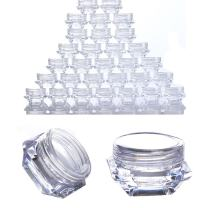 Born Pretty 30PCS 3G Clear Plastic Jars,Nail Art Cosmetic Lip Balm Lip Gloss Cream Lotion Eyeshadow Containers with Lids 3ML