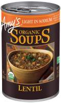 Amy's Soups, Light in Sodium Organic Lentil Soup, 14.5 Ounce