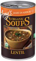 Amy's Soups, Light in Sodium Organic Lentil Soup, 14.5 Ounce