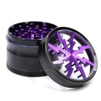 Metrical Poetry Spice Herb Grinder, 2.5 Inch 4 Piece Pollen Chromium Crusher (Purple)