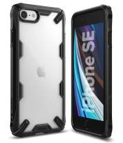 """Ringke Fusion X Case Designed for New iPhone SE 2020 (2nd Gen) Compatible with iPhone 8 (2017), iPhone 7 (2016) 4.7"""" - Black"""