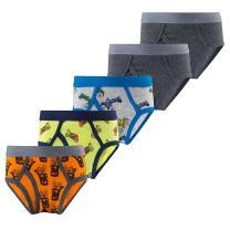B.GKAKA Little Boys 5-Pack Briefs Dinosaur Truck Kids Underwear