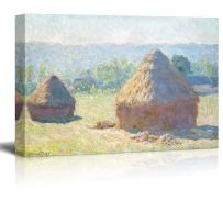 wall26 - Claude Monet - Meules, milieu du Jour Haystacks Midday - Impressionist Modern Art - Canvas Art Home Art - 24x36 inches