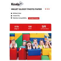Koala High Glossy Inkjet Photo Paper 5x7 Inches(127mmX178mm) 100 Sheets 230gsm for Inkjet Printing