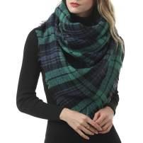 WinChange Scarfs for Women Plaid Blanket-Women's Plaid Blanket Winter Scarf Warm Cozy Tartan Wrap Oversized Shawl Cape