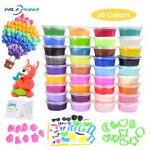 PALA PERRA Modeling Clay, 36 Bright Colors Air Dry Clay for Kids, Soft & Safe Magic Clay Kit with Accessories, Tools, Tutorials, Modeling Air-Dry Clay Best Gift for Boys and Girls