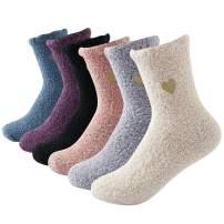 Beauttable Women Girls Premium Super Soft Toasty Plush Warm Fuzzy Microfiber Winter Socks Crew