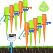 color mogu 10 Pack Plant Self Watering Spikes Bulbs Globes Stakes System,Vacation Plant Waterer Nannies Pot Self Drip Irrigation Slow Release Devices Care Your Indoor & Outdoor Home and Office Plants