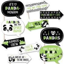 Funny Party Like a Panda Bear - Baby Shower or Birthday Party Photo Booth Props Kit - 10 Piece