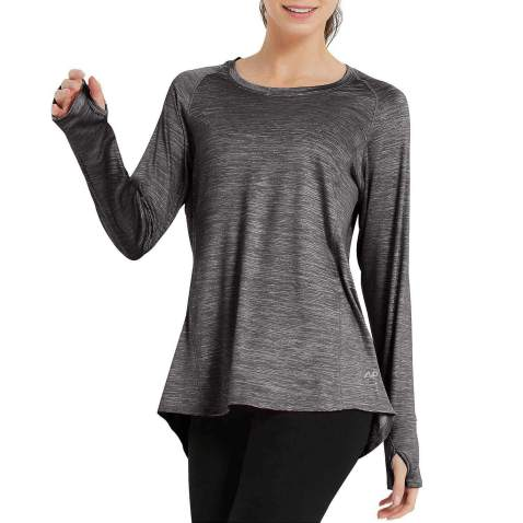 SPECIALMAGIC Women Sports T-Shirt Long Sleeve with Thumb Hole Quick Dry Running Gym Workout Yoga Tops Activewear Tee Shirt