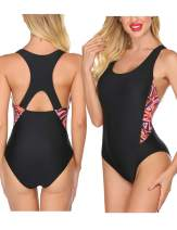 Ekouaer Women's One Piece Swimsuits for Women Athletic Training Swimsuits Swimwear Bathing Suits