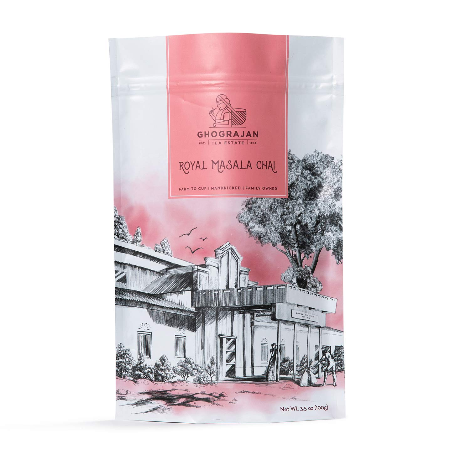 Chai Tea Loose Leaf (50+ Cups) - Fresh Organic Harvest - Finest Assam CTC Blended with Organic Cardamom, Ginger, Cloves and Cinnamon - Shipped Directly from Our 5th Generation Tea Estate in India