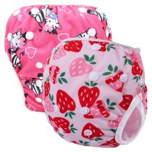 Storeofbaby 2pcs Baby Girls' Swim Diapers Reusable Washable Waterproof Cloth Cover