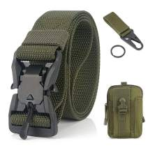 QINGYUN Tactical Rigger Belt,1.5 Inch Quick Release Heavy Duty Tactical Belt for Men Nylon Riggers Belts for Cargo Pants
