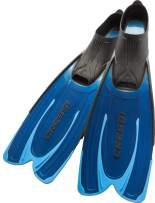 Cressi Adult Snorkeling Fins with Self-Adjustable Comfortable Full Foot Pocket | Perfect for Traveling | Agua: made in Italy