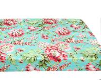 """Baby Floral Fitted Crib Sheet for Boy and Girl Toddler Bed Mattresses fits Standard Crib Mattress 28x52"""" (Aqua Floral)"""