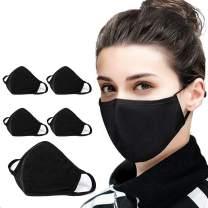 Boolavard 5PCAnti-dust Mouth Cotton Face_mask_Protect Bandana Balaclavas, Unisex Reusable Fashion Washable Cover