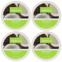 Beauty America Intense Moisturizing Body Butter With Coconut Oil, 4 pack