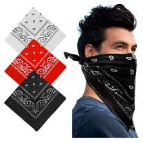 Cowboy Bandanas - Novelty Cotton Bandanas Paisley Bandanas Printed Headwrap Scarf Multi-Purpose Double-Sided For Men Womens