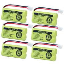 QBLPOWER BT18433/BT28433 2.4V 500mAh Ni-MH Battery Pack Rechargeable Compatible with BT184342 BT284342 BT-8300 BATT-6010 BT1011 BT1018 BT1022 BT1031 89-1326-00-00/89-1330-01-00/CPH-515D (Pack of 6)