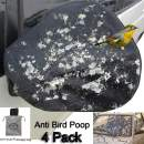 4Pack Huge Auto Side 16x15 inch Mirror Protect Cover Snow and Ice Mirror Covers Universal Size Fits Cars SUV Truck Van with Advanced Anti Bird Poop Technnti Bird Poop Technology Frost Guard