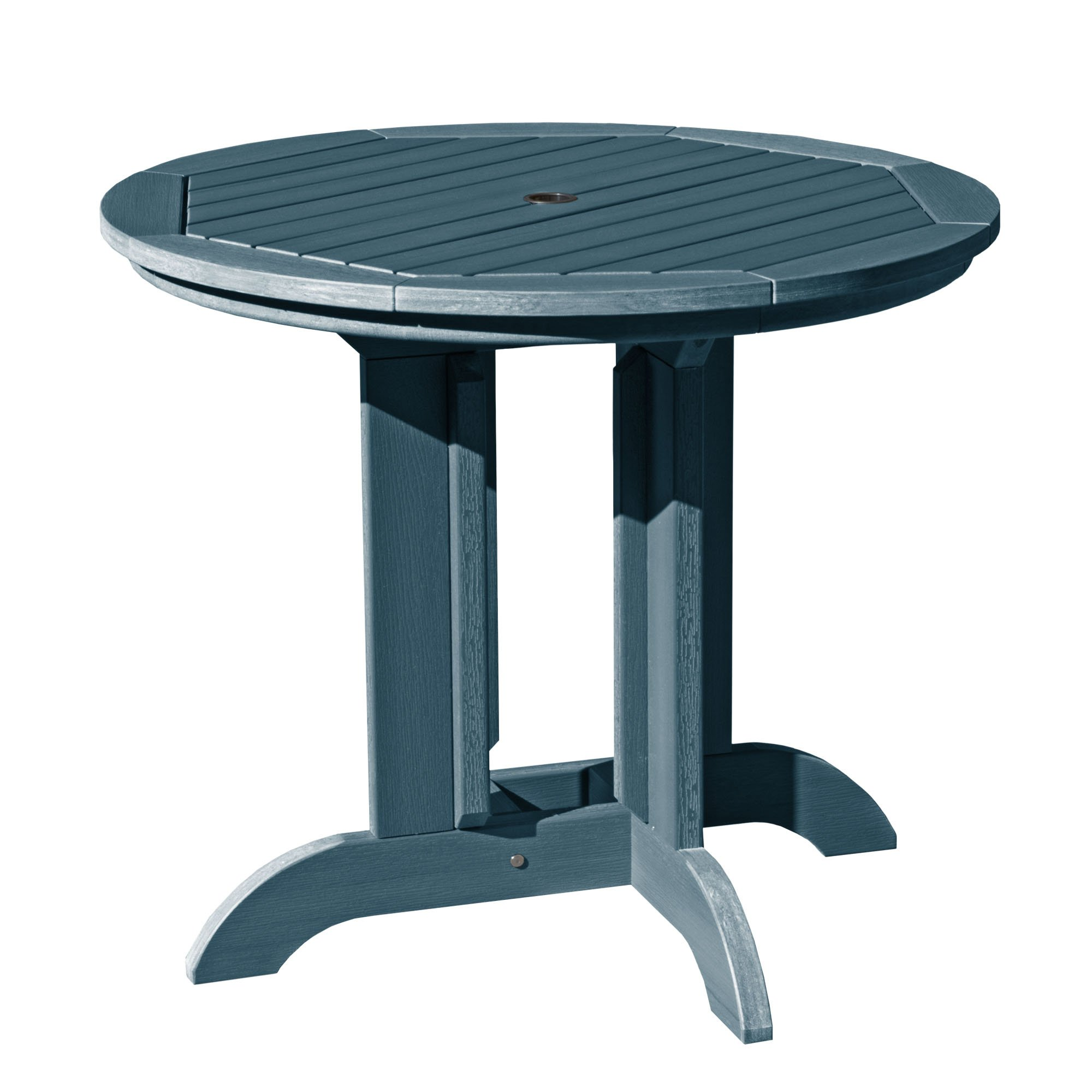"""Highwood AD-DRT36-NBE Adirondack Round Height Dining Table, 36"""", Nantucket Blue"""
