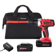 """Avid Power Cordless Drill, 2 PACKS of Battery,18V Power Drill Driver Kit with 3/8"""" Keyless Chuck, Variable Speed, 265 In-lbs, 19+1 Position and LED Work Light"""