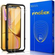 FOGEEK Screen Protector for iPhone XR,iPhone 11, [2 Pack] Tempered Glass for iPhone XR/iPhone 11, HD Clarity 2.5D Edge [Case Friendly] Screen Protector for iPhone XR,iPhone 11 [6.1 Inch]