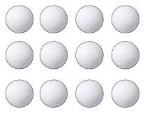 Beistle S55087AZ12, 12 Piece Volleyball Cutouts, 13.5'' (White/Black)