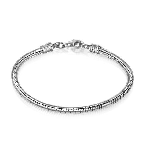 Flower S925 Silver Charm Glass Bead Pendant For European Bracelet Snake Chain