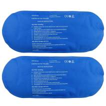 Pain Relief Flexible Ice Pack for Injuries Hot Cold Therapy Reusable Gel Pack/Heat Wrap - Great for Back, Waist, Shoulder, Neck, Ankle, Knee and Hip (2 Pack) (Small-Blue)