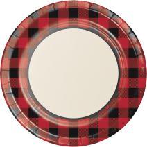 "Creative Converting 321826 Buffalo Plaid Dinner, 10.25"", Banquet Paper Plates"