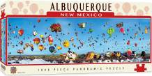 MasterPieces Cityscape Panoramics 1000 Puzzles Collection - Albuquerque Balloons Panoramic 1000 Piece Jigsaw Puzzle