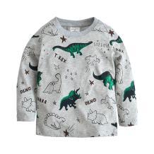 Toddler Boys T-Rex Long Sleeve Dinosaur T Shirt Tops Cotton Cartoon Graphic Tees for Kids Size 1-7T