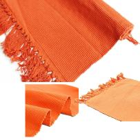 100% Cotton Hand-Woven Rug Mat for Indoor/Outdoor,Tassels Design Blanket for Chair, Couch, Picnic, Camping, Beach, Everyday Use Floor Mat Kitchen Area Rug (23''x35'', Orange)
