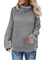 luvamia Women's Casual Long Sleeve Turtleneck Sweater Knit Pullover Sweaters Top