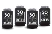 Coolies Can Coolers Collapsible Beer Soft Drinks Bottle Soda Slim Sleeves Durable Insulators Premium Quality for Birthday Parties 30 Y&CB Black Set of 24