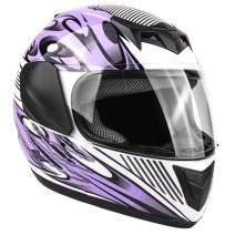 Typhoon Youth Full Face Motorcycle Helmet Kids DOT Street - Purple (Medium)