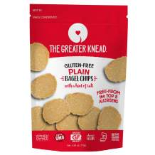 Greater Knead Gluten Free Bagel Chips - Plain, Vegan, non-GMO, Free of Wheat, Nuts, Soy, Peanuts, Tree Nuts (1 Bags)