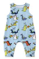 Kids4ever Newborn Baby Romper Dinosaur Shark Animal Jumpsuit Sleveless Bodysuit Summer Outfits for 3-24M Girls Boys