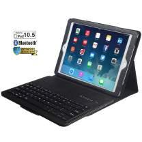 "iPad 10.5"" Keyboard Case for iPad,Eoso Folding PU Leather Folio Cover with Removable Bluetooth Keyboard for iPad Pro 10.5"" (Black)"