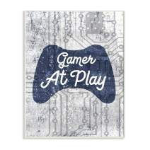 Stupell Industries Gamer at Play Quote Video Game Technology Boys, Designed by Daphne Polselli Art, 10 x 15, Wall Plaque