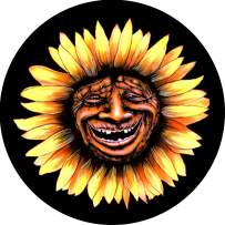 TIRE COVER CENTRAL Troll Sunflower Face Spare Tire Cover (Select tire Size/Back up Camera Option in MENU) Sized to Any Make Model for 235/70R16