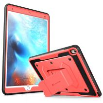 i-Blason Case Compatible with Apple iPad Pro 10.5 2017 release, Armorbox [Heavy Duty] Full-body Protective Kickstand Case with Built-in Screen Protector, Not fit iPad Pro 10.5 2018(Pink)
