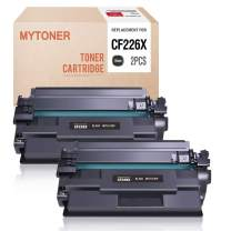 MYTONER Compatible Toner Cartridge Replacement for HP 26X CF226X 26A CF226A High Yield (Black,2-Pack)