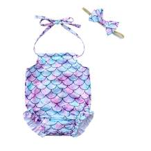 Baby Infant Girls 3-24M One Piece Swimsuit Cute Pineapple Printed Backless Halter Swimwear Bathing Suits