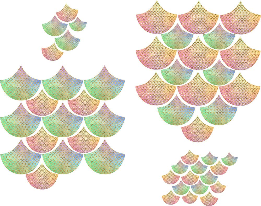 Easma Mermaid Scale Wall Decals Nursery Decals Geometric Decals Modern Wall Decals Unique Wall Decor Scales Decals 2 Colors